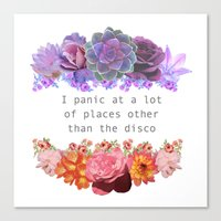 panic at the disco Canvas Prints featuring Panic! by Midnight Mania