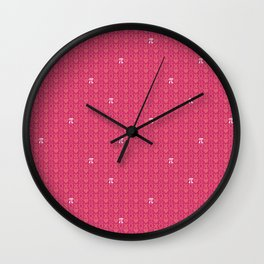 Hugs, Kisses, Love, and Pi - Pink  Wall Clock