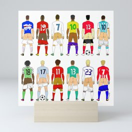 Soccer Butts Mini Art Print
