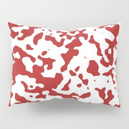 Spots - White and Firebrick Red Pillow Sham