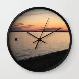 Cape Cod Bay Sunset Wall Clock
