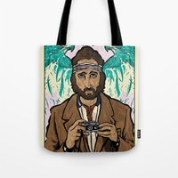 royal tenenbaums Tote Bags featuring Richie Tenenbaum (Royal Tenenbaums) Movie Poster Print  by Nick Howland