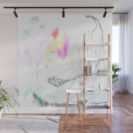 abstract whale Wall Mural