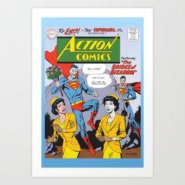Action Comics 255 Bizarro the Player vs Nice Guy Superman Art Print