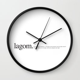 Lagom -Wiki Wall Clock