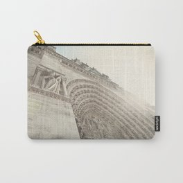Bathed in sunlight at the Notre Dame, Paris, France Carry-All Pouch