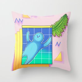 Ope-wave Throw Pillow