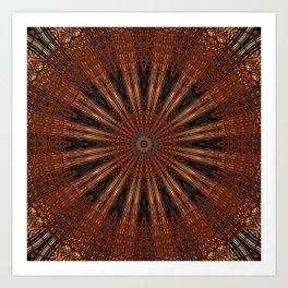 Rust Brown Bohemian Mandala Art Print