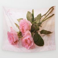 roses Wall Tapestries featuring Roses by Fine Art by Rina
