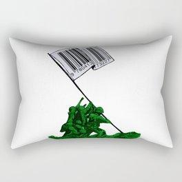 Raising The Flag Of Commerce Rectangular Pillow