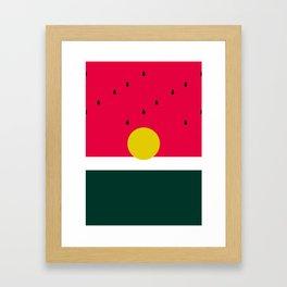 Watermelon Sunrise Framed Art Print