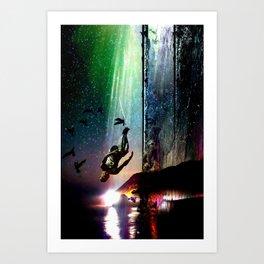 Floating Still Art Print