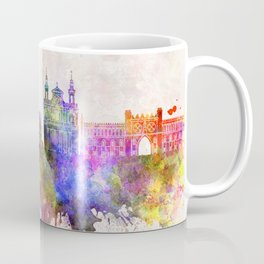Lublin skyline in watercolor background Coffee Mug