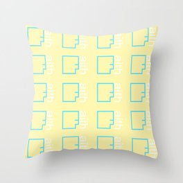 By Faith (teal & yellow) Throw Pillow
