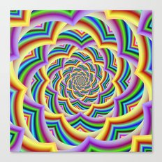 Colorful Curved Chevron Spiral Canvas Print