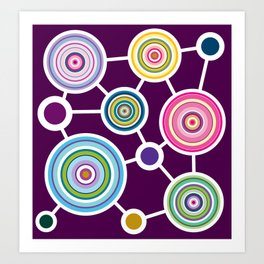 ROUND CONECTION Art Print