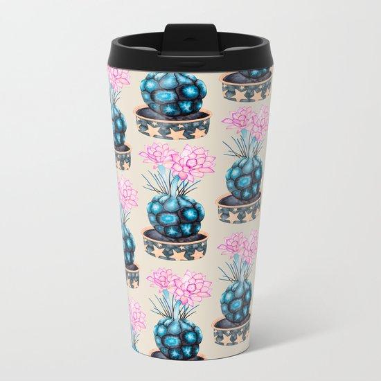 succulent flower Metal Travel Mug