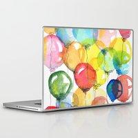 balloons Laptop & iPad Skins featuring balloons by Katja Main