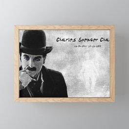 Charlie Chaplin Quote Framed Mini Art Print