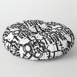 over think it. Floor Pillow