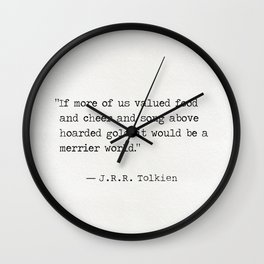 J.R.R. quote Wall Clock