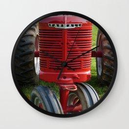 Red Farmall Tractor Wall Clock