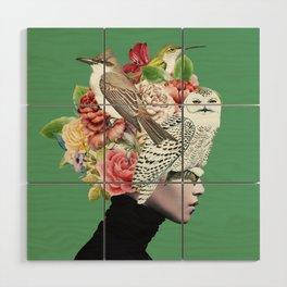 Lady with Birds(portrait) 2 Wood Wall Art