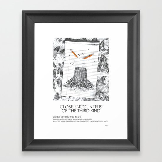 Close Encounters of the Third Kind (1977) Framed Art Print