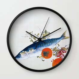 Takeuchi Seiho - Autumn Fattens Fish and Ripens Wild Fruits - Original Color Edition Wall Clock