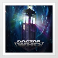 dr who Art Prints featuring Dr Who by giftstore2u