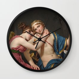 Jacques Louis David - The Farewell Of Telemachus And Eucharis Wall Clock