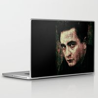 johnny cash Laptop & iPad Skins featuring Cash by Sirenphotos