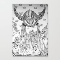 viking Canvas Prints featuring Viking by Infra_milk