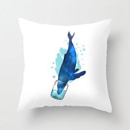 Biting Contempt Throw Pillow
