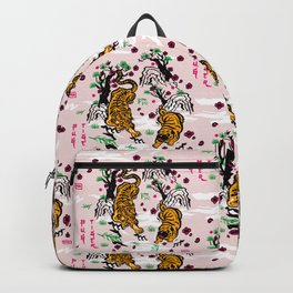 Tiger and Pug Japanese style Backpack