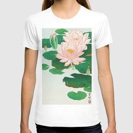 Flowering Water Lily Ohara Koson T-shirt