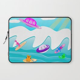 Aliens Go Surfing Laptop Sleeve