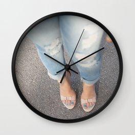 Nude Blue Wall Clock