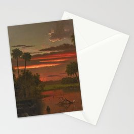 The Great Florida Sunset by Martin Johnson Heade Stationery Cards