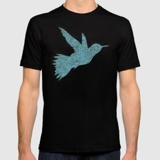 Bird Fly 1 - Aqua/Brown Black SMALL Mens Fitted Tee