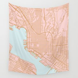 San Diego map Wall Tapestry