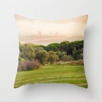 bridge Throw Pillows featuring Bridge by Sébastien BOUVIER