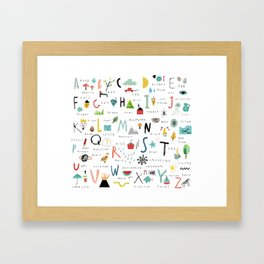 ABC Framed Art Print