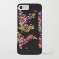 music notes iPhone & iPod Cases featuring World Map Music Notes by mailboxdisco