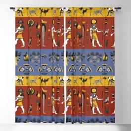 Egyptian Pattern Blackout Curtain
