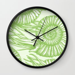 AMMONITE COLLECTION GREEN Wall Clock