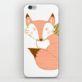 Fashionable Fox - Peach iPhone Skin