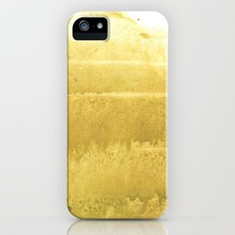 Sunny yellow abstract iPhone Case