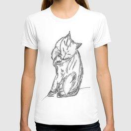 Cat Preening and Licking T-shirt