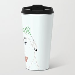 green haired babe Travel Mug